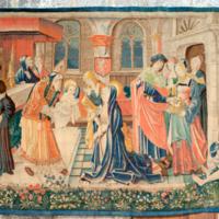 ref: PM_094505_F_Saint_Bertrand_de_Comminges; tapisserie d'origine flamande, commandé par Jean de Mauléon, évêque de 1523 à 1551