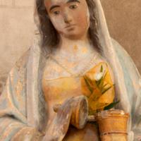 ref: PM_094510_F_Les_Andelys; Sainte-Madeleine, pierre sculpté, polychromé, XVIe S