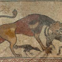 ref: PM_094396_F_Lescar; mosaïque, 2e partie du 12e S, attribuée à l'évêque Guid